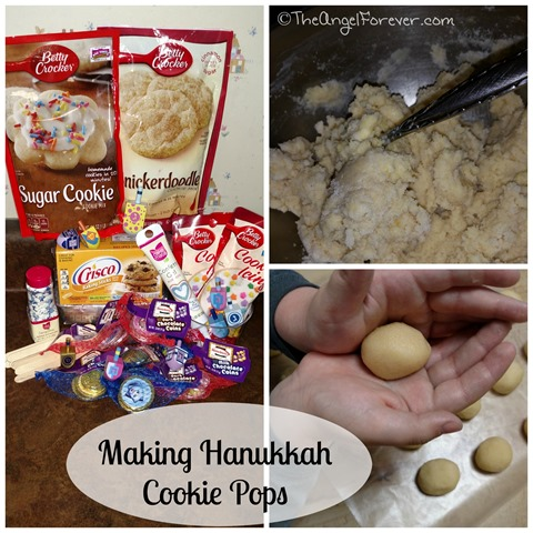 Making Hanukkah Cookie Pops