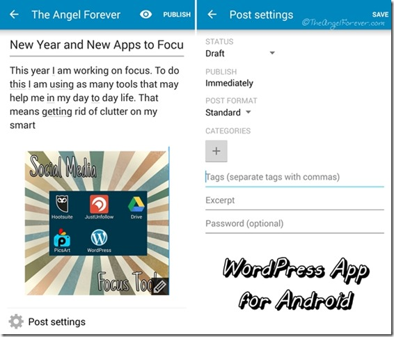 WordPress app for Android