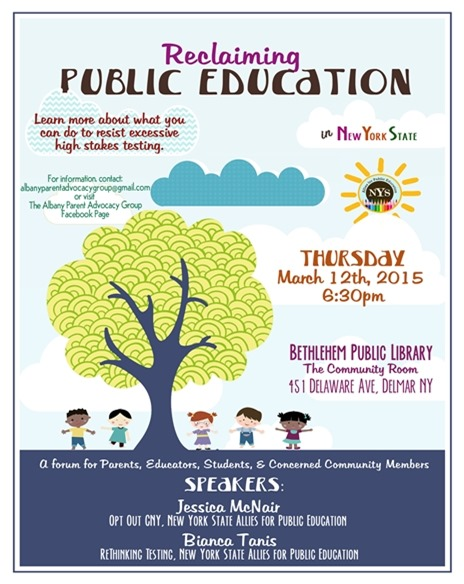 Reclaiming Public Education event in Delmar