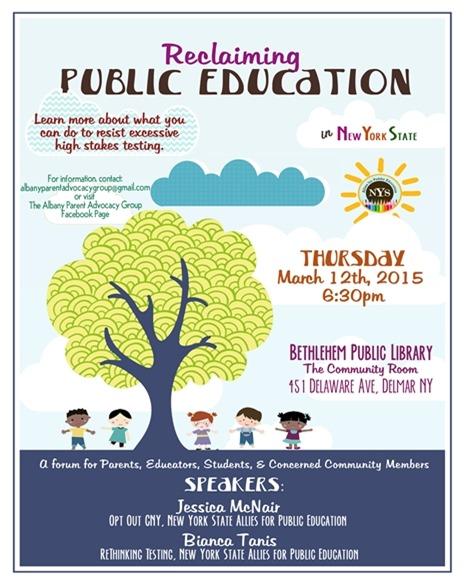 Reclaiming Public Education event in Delmar