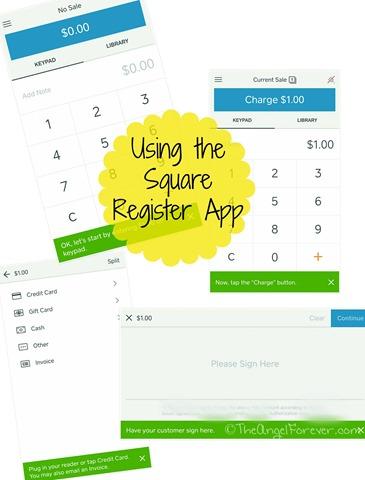 Using the Square Register App
