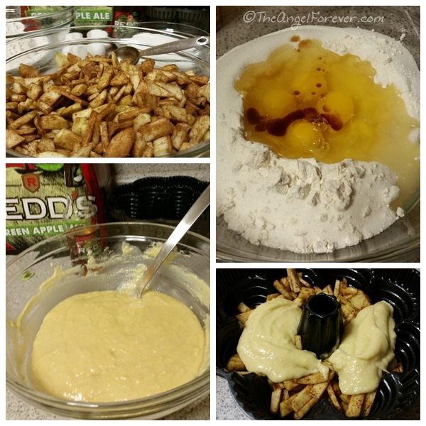 Making the Apple Ale Cake