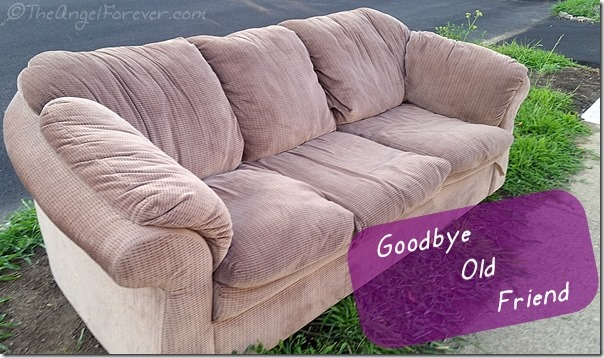 Saying goodbye to a couch