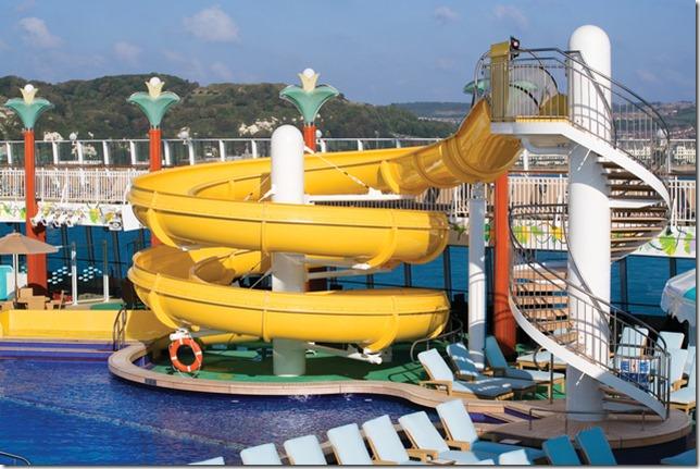 NCL Gem Waterslide - Photo Credit Norwegian Cruise Line