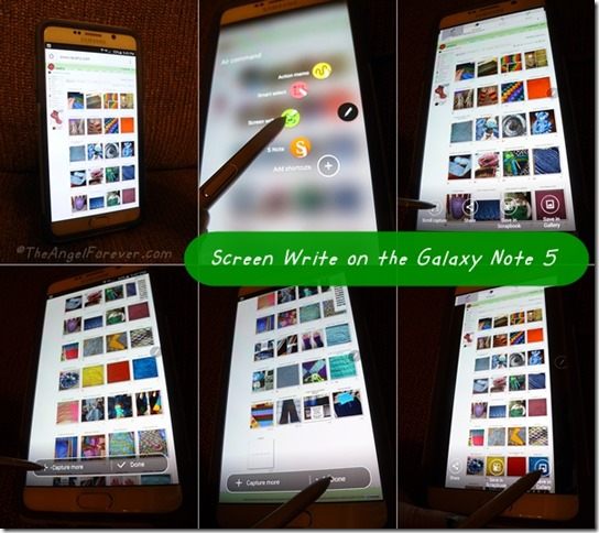 Screen Write on the Galaxy Note 5