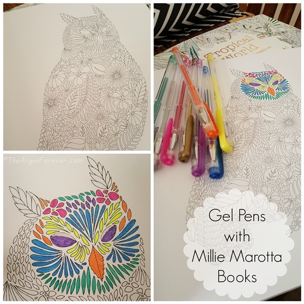 Gel Pens with Millie Marotta Books