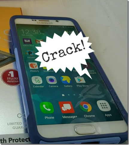 Cracked smartphone screen