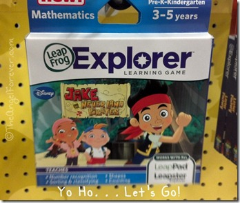 Jake and the Never Land Pirates Leap Frog Explorer Game