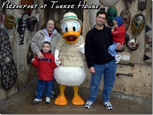 Meeting Donald Duck at Tusker House Breakfast