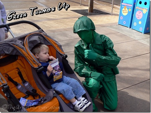 Toy Story Green Army Man at Hollywood Studios