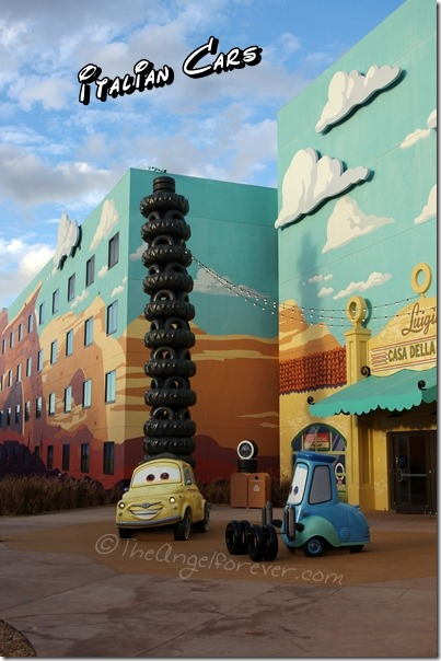 Italian Cars at Art of Animation Resort