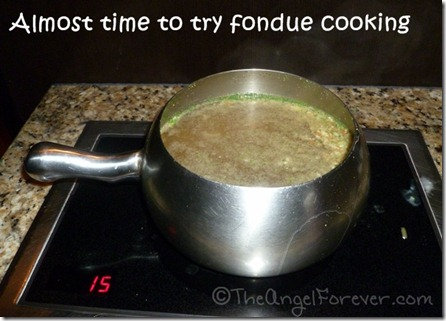 Fondue cooking time at The
