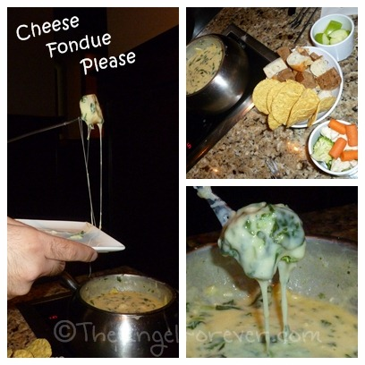 Spinach Artichoke Cheese Fondue