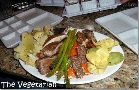 The Vegetarian Entree at The Melting Pot