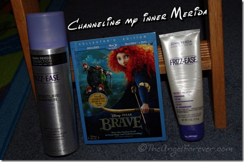 Merida and her frizzy hair in Brave