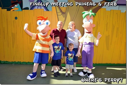 Phineas and Ferb shirts to meet them