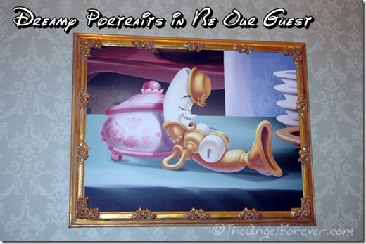 Rose Gallery Painting in Be Our Guest Restaurant