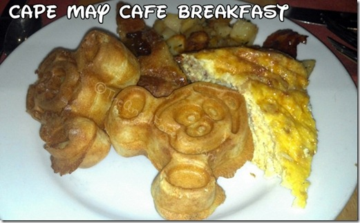 Cape May Cafe and Mickey Waffle breakfast
