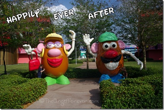 Mr and Mrs Potato Head Pop Century Resort