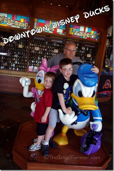 Donald and Daisy Duck in Downtown Disney