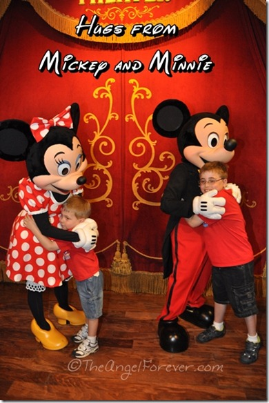 Hugs from Mickey and Minnie at Walt Disney World