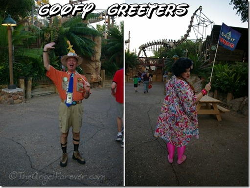 Goofy Greeters at Animal Kingdom