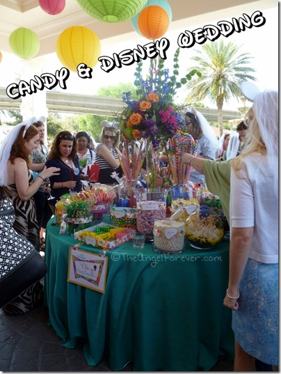 Disney Wedding Event and Candy