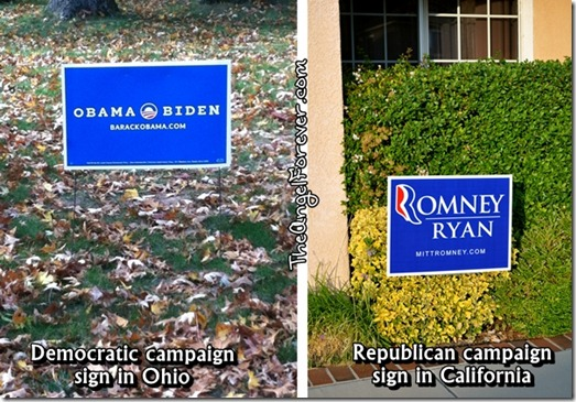 2012 Presidential Campaign Signs