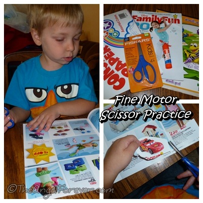 Fine Motor Scissor Practice for Toddler and Preschoolers