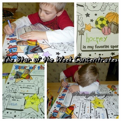 Concentrating on Star of the Week Kindergarten poster