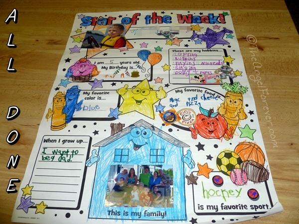 kindergarten star of the week