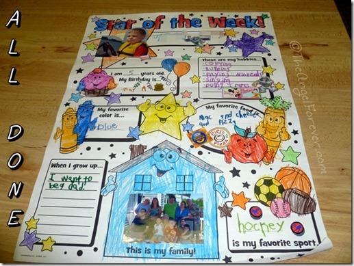 Kindergarten Star of the Week Poster