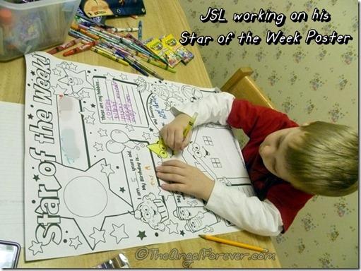 Star of the Week Poster for Kindergarten