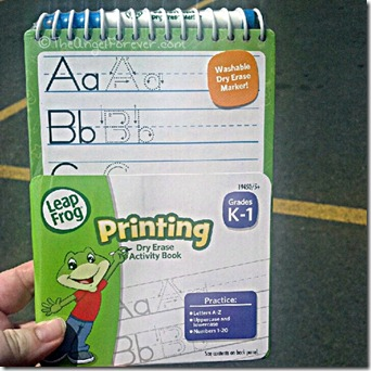 ABC learning with Leap Frog writing