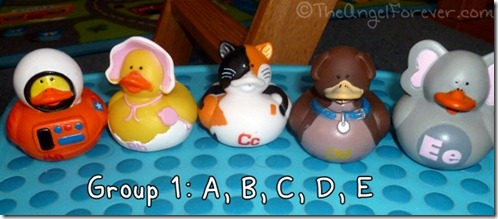 Alphabet Ducks A B C D E