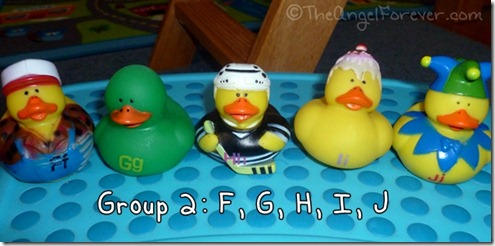 Alphabet Ducks F G H I J