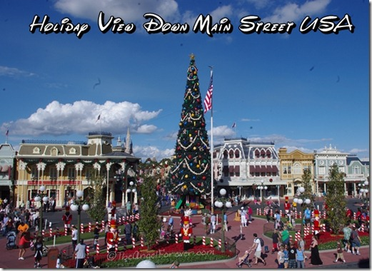 Holiday view down Main Street USA at The Magic Kingdom