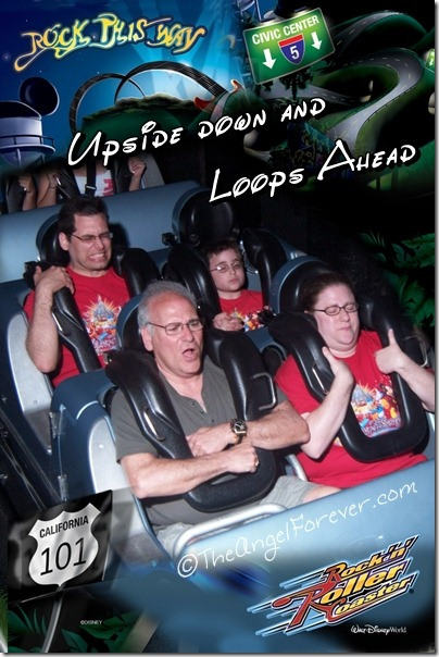 Rock 'n' Roller Coaster Starring Aerosmith with family