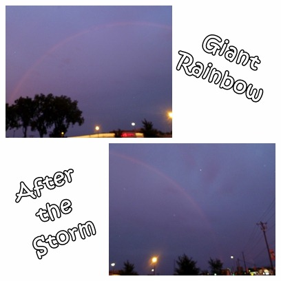 Giant rainbow after the storm