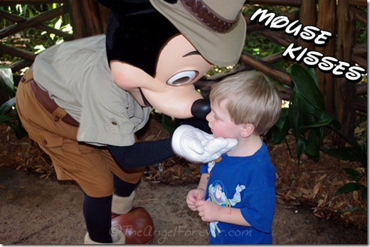 Kisses from Mickey Mouse at Disney's Animal Kingdom