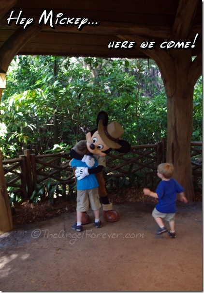 Meeting Mickey at Disney's Animal Kingdom
