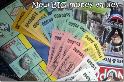Monopoly Here and Now big money values