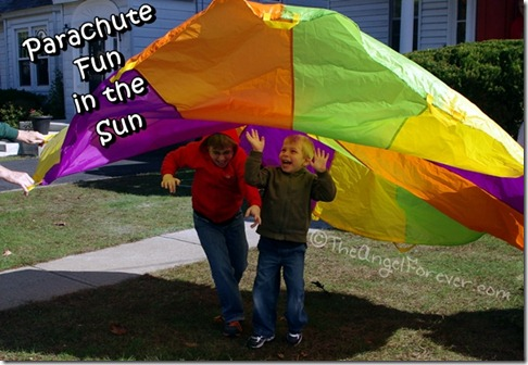 Parachute fun in the sun