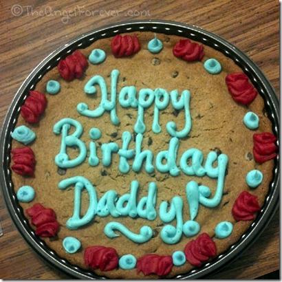 Cookie Birthday Cake for TechyDad
