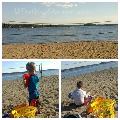 Beach time at Saratoga Lake