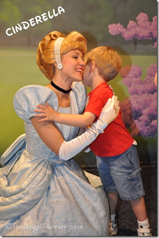 Cinderella hugs and kisses