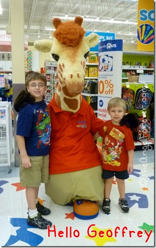 Geoffrey Giraffe at Toys R Us