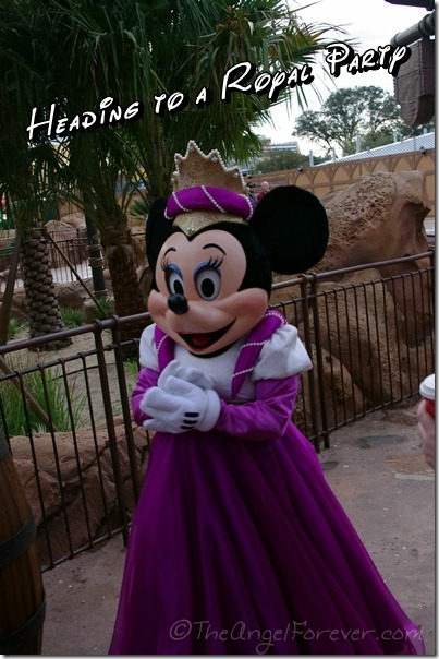 Minnie Mouse at opening of New Fantasyland
