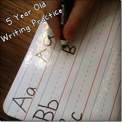 Writing Practice before kindergarten