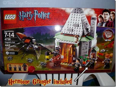 Hagrid's Hut LEGO set with Hermione Granger